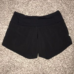 Size 2 black lululemon shorts!